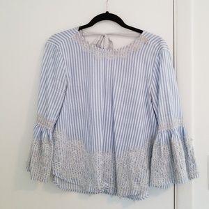 Zara | Blue Stripe Top